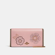 Picture of FOLDOVER CHAIN CLUTCH WITH TEA ROSE RIVETS