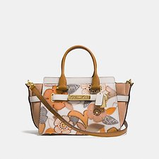 Picture of COACH SWAGGER 27 WITH PATCHWORK TEA ROSE AND SNAKESKIN DETAIL