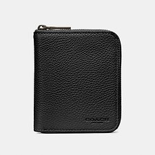 Image of Coach Australia BLACK SMALL ZIP AROUND WALLET