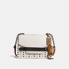 Picture of COACH SWAGGER CHAIN CROSSBODY WITH QUILTING AND RIVETS
