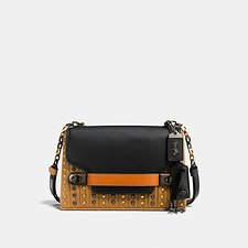 Picture of COACH SWAGGER CHAIN CROSSBODY WITH COLORBLOCK QUILTING AND RIVETS
