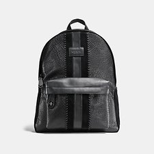 Picture of CAMPUS BACKPACK IN BUFFALO EMBOSSED LEATHER WITH BASEBALL STITCH