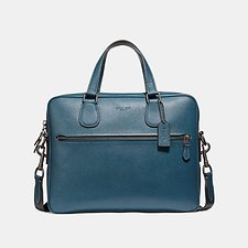 Image of Coach Australia QB/DENIM HUDSON 5 BAG IN CROSSGRAIN LEATHER