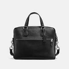 Image of Coach Australia SV/BLACK HUDSON 5 BAG IN CROSSGRAIN LEATHER