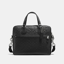 Image of Coach Australia SV/BLACK HUDSON 5 BAG IN SIGNATURE CROSSGRAIN LEATHER