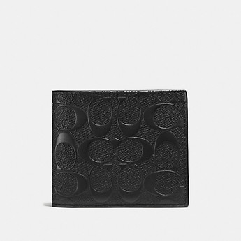 Image of Coach Australia  3-IN-1 WALLET IN SIGNATURE CROSSGRAIN LEATHER