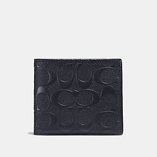 Image of Coach Australia MIDNIGHT 3-IN-1 WALLET IN SIGNATURE CROSSGRAIN LEATHER