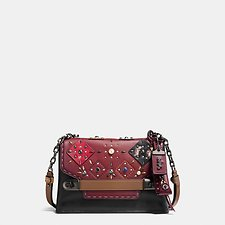 Picture of COACH SWAGGER CHAIN CROSSBODY WITH PATCHWORK PRAIRIE RIVETS