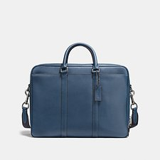 Image of Coach Australia QB/DENIM METROPOLITAN DOUBLE ZIP BUSINESS CASE