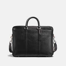 Image of Coach Australia SV/BLACK METROPOLITAN DOUBLE ZIP BUSINESS CASE