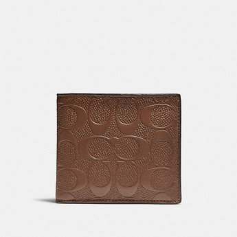 Image of Coach Australia  COIN WALLET IN SIGNATURE LEATHER