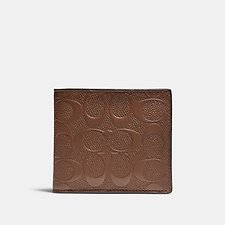 Image of Coach Australia SADDLE COIN WALLET IN SIGNATURE LEATHER