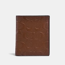 Image of Coach Australia SADDLE SLIM COIN WALLET IN SIGNATURE LEATHER