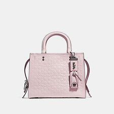 Image of Coach Australia BP/ICE PINK ROGUE 25 IN SIGNATURE LEATHER WITH FLORAL BOW PRINT