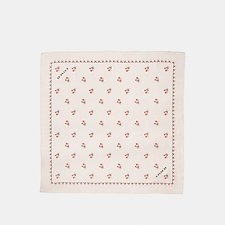 Picture of FLORAL BOW SILK SQUARE