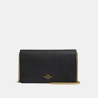 Image of Coach Australia  FOLDOVER CHAIN CLUTCH