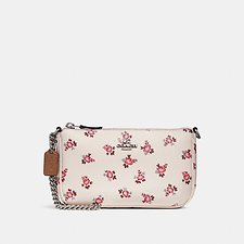 Image of Coach Australia SV/CHALK FLORAL BLOOM NOLITA WRISTLET 19 WITH FLORAL BLOOM PRINT