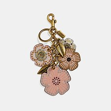 Picture of STUDDED TEA ROSE MIX BAG CHARM