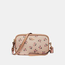 Picture of CROSSBODY CLUTCH WITH FLORAL BLOOM PRINT