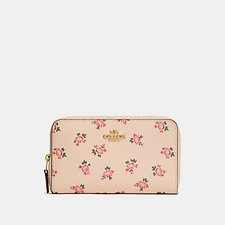 Picture of MEDIUM ZIP AROUND WALLET WITH FLORAL BLOOM PRINT