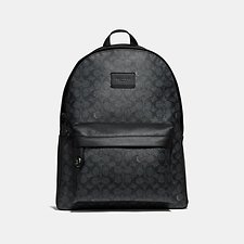 Image of Coach Australia QB/CHARCOAL CAMPUS BACKPACK IN SIGNATURE CANVAS