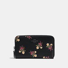 Picture of MEDIUM ZIP AROUND WALLET WITH FLORAL BOW PRINT