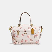Picture of PRAIRIE SATCHEL WITH FLORAL BOW PRINT