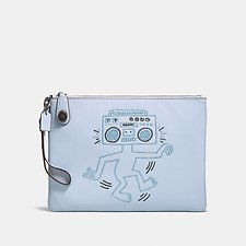 Image of Coach Australia BP/ICE BLUE COACH X KEITH HARING TURNLOCK WRISTLET 30