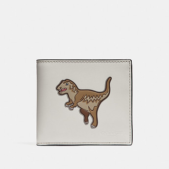 Image of Coach Australia  DOUBLE BILLFOLD WALLET WITH MASCOT