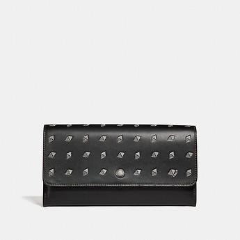 Image of Coach Australia  MULTIFUNCTIONAL WALLET WITH DOT DIAMOND PRINT