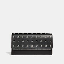 Image of Coach Australia BLACK/CHALK MULTIFUNCTIONAL WALLET WITH DOT DIAMOND PRINT
