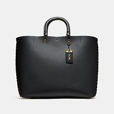 Image of Coach Australia B4/BLACK ROGUE TOTE WITH BORDER RIVETS