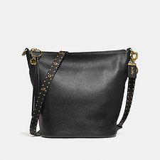 Image of Coach Australia B4/BLACK DUFFLE WITH BORDER RIVETS