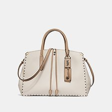 Image of Coach Australia BP/CHALK MULTI COOPER CARRYALL IN COLORBLOCK WITH BORDER RIVETS