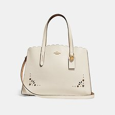 Image of Coach Australia LI/CHALK CHARLIE CARRYALL WITH PRAIRIE RIVETS DETAIL