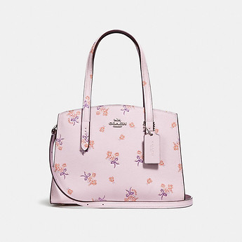 Image of Coach Australia  CHARLIE CARRYALL 28 WITH FLORAL BOW PRINT