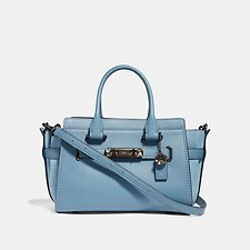 Image of Coach Australia BP/CHAMBRAY COACH SWAGGER 27 WITH TEA ROSE DETAIL
