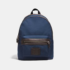 Image of Coach Australia QB/BRIGHT NAVY/CHESTNUT ACADEMY BACKPACK