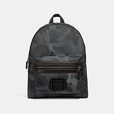Image of Coach Australia JI/CHARCOAL ACADEMY BACKPACK WITH WILD BEAST PRINT