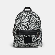 Image of Coach Australia QB/BLACK/CHALK ACADEMY BACKPACK WITH CHEVRON STAR PRINT