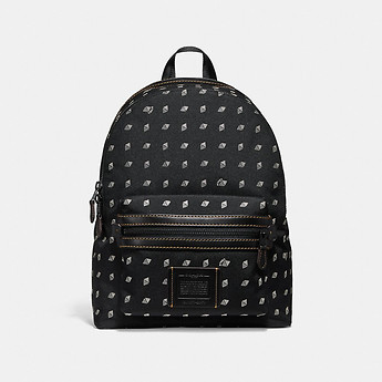 Image of Coach Australia  ACADEMY BACKPACK WITH DOT DIAMOND PRINT