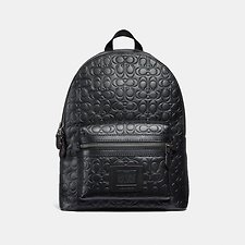 Image of Coach Australia QB/BLACK ACADEMY BACKPACK IN SIGNATURE LEATHER