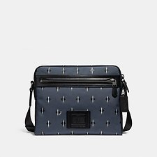 Image of Coach Australia QB/GREY/CHALK METROPOLITAN CAMERA BAG WITH IKAT GEO PRINT