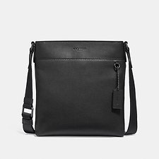 Image of Coach Australia QB/BLACK METROPOLITAN SLIM MESSENGER