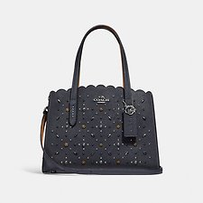 Image of Coach Australia SV/MIDNIGHT NAVY CHARLIE CARRYALL 28 WITH PRAIRIE RIVETS