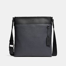 Image of Coach Australia QB/MIDNIGHT NAVY/BLACK METROPOLITAN SLIM MESSENGER IN COLORBLOCK