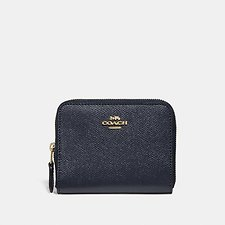 Image of Coach Australia LI/NAVY SMALL ZIP AROUND WALLET