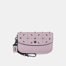 Image of Coach Australia BP/ICE PURPLE CLUTCH WITH PRAIRIE RIVETS