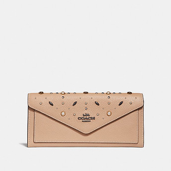 Image of Coach Australia  SOFT WALLET WITH PRAIRIE RIVETS