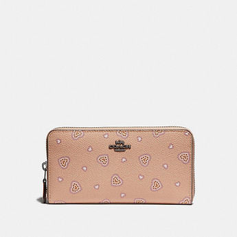 Image of Coach Australia  ACCORDION ZIP WALLET WITH WESTERN HEART PRINT